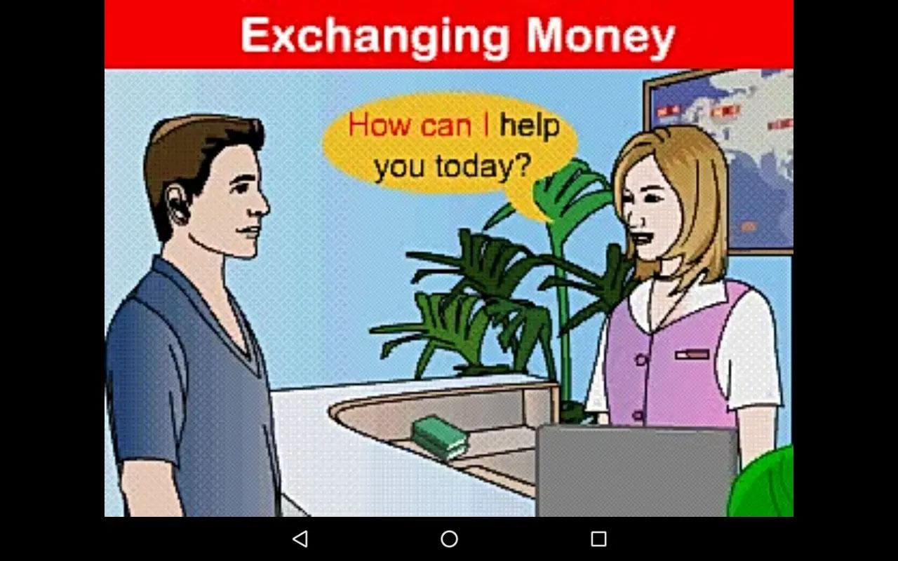 オーディオブック「Exchanging Money」の画面